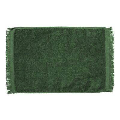 Pequoig Premium Fringed Velour Hand Towel (Set of 6) Color: Green