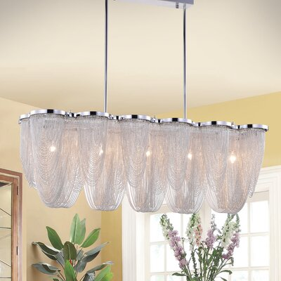 Leger Chain 6-Light Kitchen Island Pendant