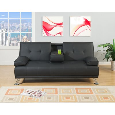 Dansby Ajustable Convertible Sofa Upholstery: Black