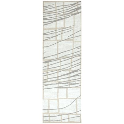 LaPrise Hand-Tufted Wool Ivory Area Rug Rug Size: Runner 26 x 8