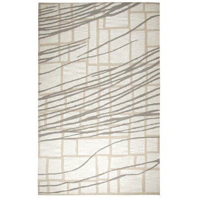 LaPrise Hand-Tufted Wool Ivory Area Rug Rug Size: Rectangle 9 x 12