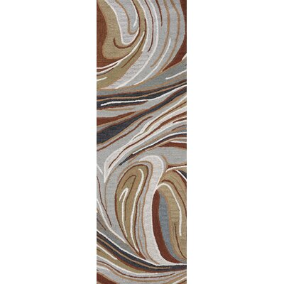 LaPrise Hand-Tufted Wool Gray/Brown Area Rug Rug Size: Runner 26 x 8
