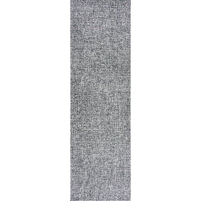 Priory Hand-Tufted Wool Black/White Area Rug Rug Size: Runner 2'6