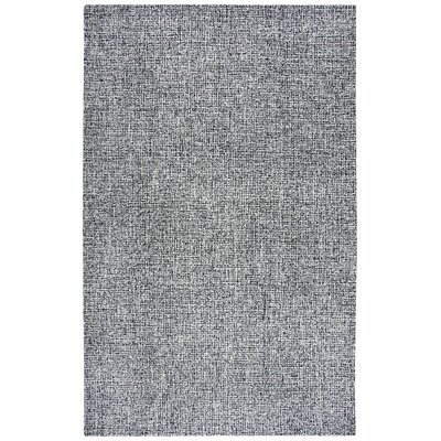 Priory Hand-Tufted Wool Black/White Area Rug Rug Size: Rectangle 5' x 8'