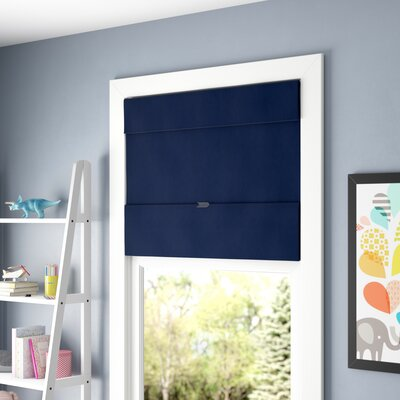 Cordless Magnetic Thermal Roman Shade Size: 27 W x 64 H, Color: Sailors Navy (Thermal & Room Darkening)
