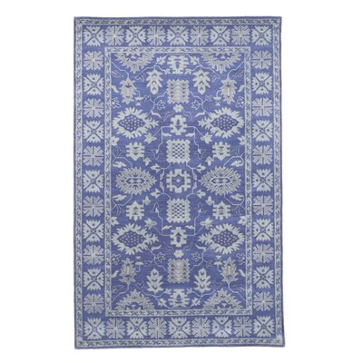 Montville Traditional Oriental Overdyed Hand-Tufted Wool Blue Area Rug Rug Size: Rectangle 5 x 8