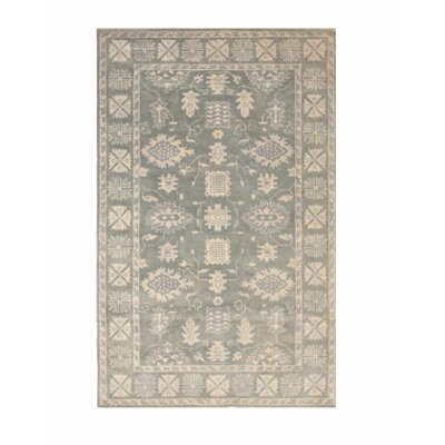 Bourdeau Traditional Oriental Overdyed Hand-Tufted Wool Gray Area Rug Rug Size: Rectangle 5 x 8