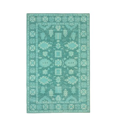 Bachar Traditional Oriental Overdyed Hand-Tufted Wool Green Area Rug Rug Size: Rectangle 79 x 99