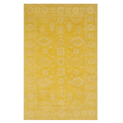 Bachmann Traditional Oriental Overdyed Hand-Tufted Wool Yellow Area Rug Rug Size: Rectangle 89 x 119