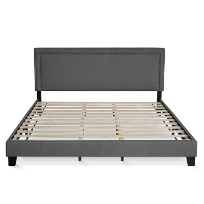 Raasch Double Row Upholstered Panel Bed Size: King