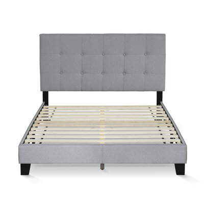Raasch Button Tufted Upholstered Panel Bed Size: Full
