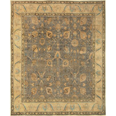 One-of-a-Kind Kimes Distressed Hand-Knotted Wool Gray/Tan Area Rug