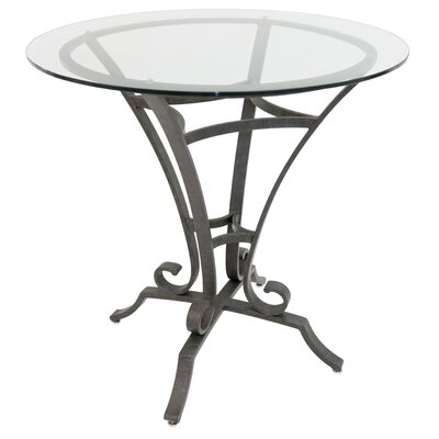 Barnathan Pub Table Color: Patina Moss/Clear Glass, Size: 36 H x 36 W x 36 D