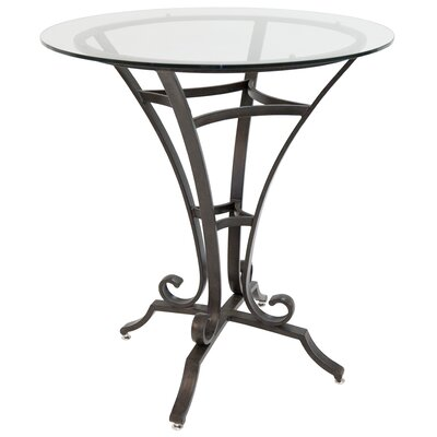 Barnathan Pub Table Color: Autumn Rust/Clear Glass, Size: 40 H x 36 W x 36 D