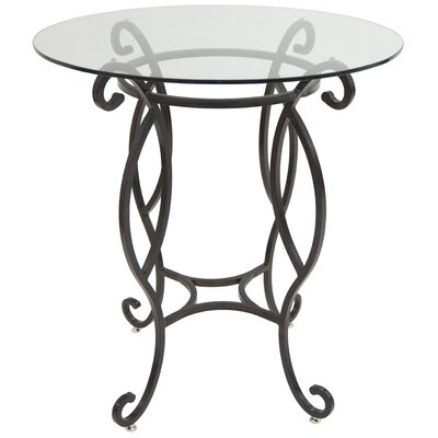 Cafferata Pub Table Color: Smoke Copper/Clear Glass, Size: 40 H x 36 W x 36 D