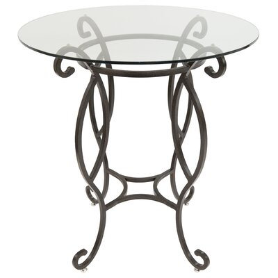 Cafferata Pub Table Color: Autumn Rust/Clear Glass, Size: 40 H x 36 W x 36 D
