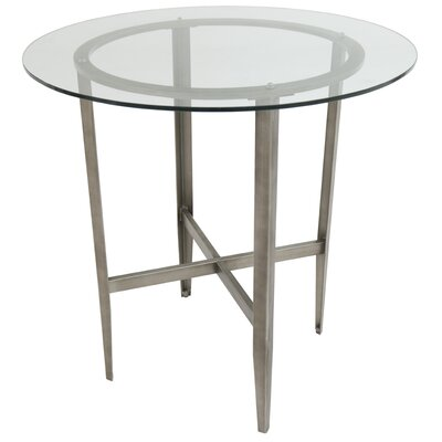 Hedden Pub Table Color: Rustic Silver/Clear Glass