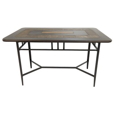 Hedden Gathering Pub Table Color: Phantom/Walnut, Size: 40 H x 40 W x 66 D