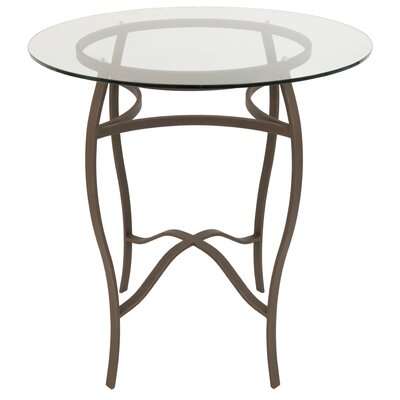 Gilman Pub Table Color: Bronze/Clear Glass, Size: 36 H x 36 W x 36 D