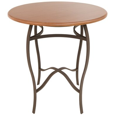 Gilman Pub Table Color: Bronze/Tudor, Size: 40 H x 36 W x 36 D