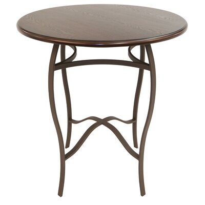 Gilman Pub Table Color: Bronze/Walnut, Size: 36 H x 36 W x 36 D