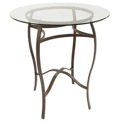 Gilman Pub Table Color: Autumn Rust/Clear Glass, Size: 40 H x 36 W x 36 D