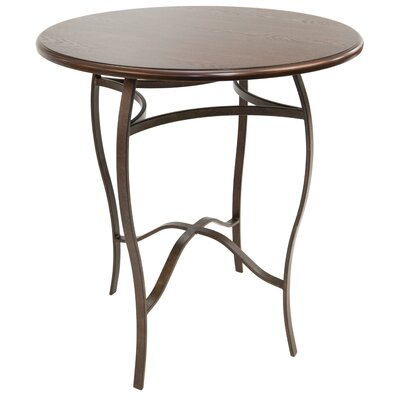 Gilman Pub Table Color: Autumn Rust/Walnut, Size: 40 H x 36 W x 36 D