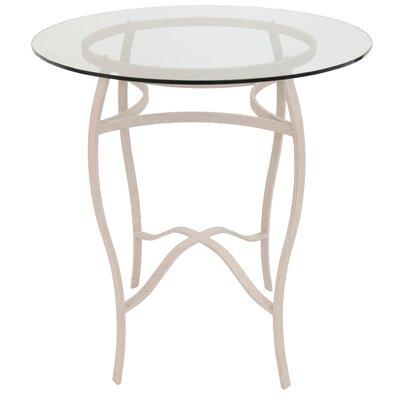 Gilman Pub Table Color: Cinnamon/Clear Glass, Size: 40 H x 36 W x 36 D