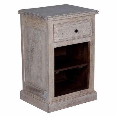 Ruble 1 Drawer Nightstand Color: White Washed