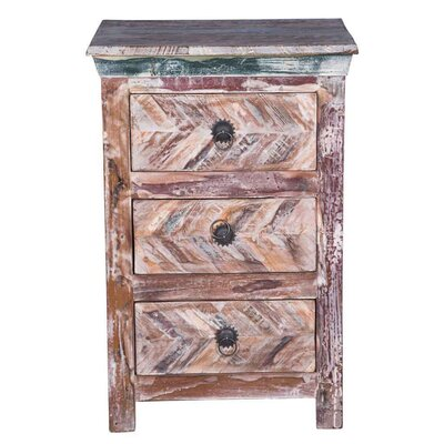 Canonbury 3 Drawer Nightstand Color: Dark Brown