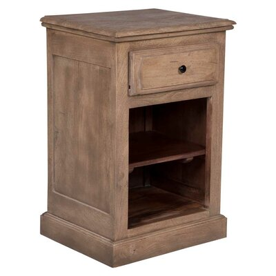 Ruble 1 Drawer Nightstand Color: Light Walnut