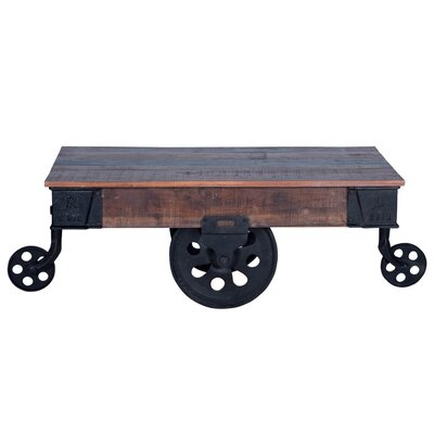Ellingsworth Industrial Cart Coffee Table Color: Natural