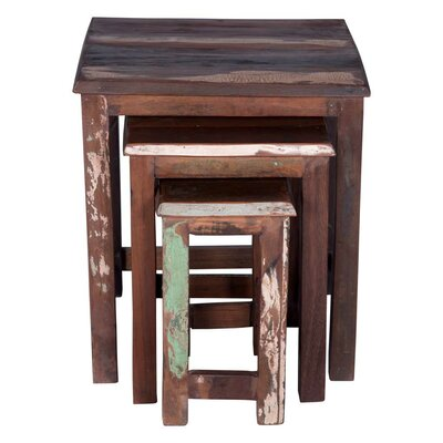 Mayne 3 Piece Nesting Tables Color: Dark Brown