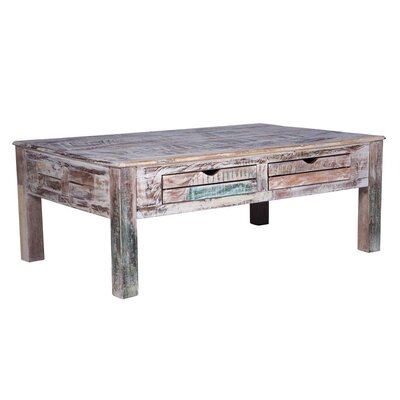 Mayhall Coffee Table with Storage Color: White Washed