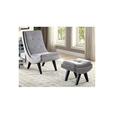 Owensby Lounge Chair and Ottoman Upholstery: Gray