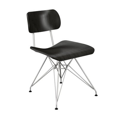 Silvernail Eiffel Dining Chair Color: Black/Chrome