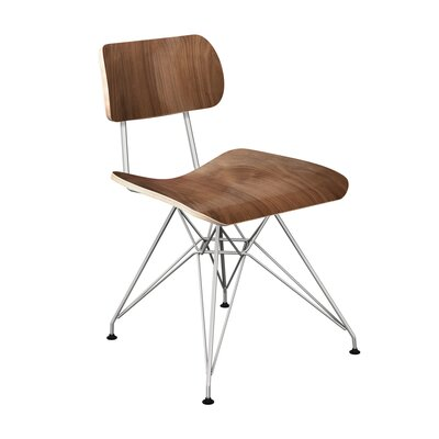 Silvernail Eiffel Dining Chair Color: Walnut/Chrome