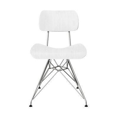 Silvernail Eiffel Dining Chair Color: White/Chrome