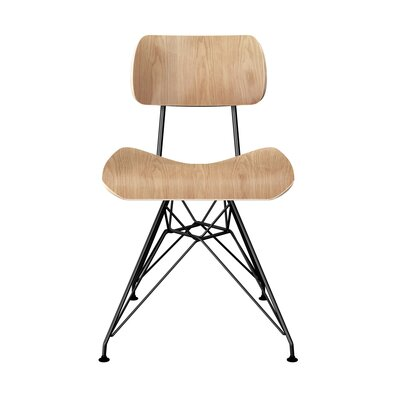 Silvernail Eiffel Dining Chair Color: Natural/Black