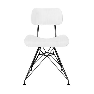 Silvernail Eiffel Dining Chair Color: White/Black