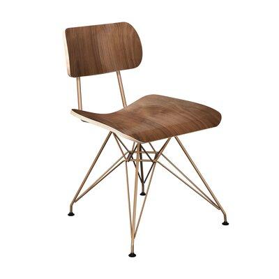 Silvernail Eiffel Dining Chair Color: Walnut/Brass