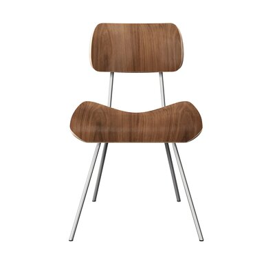 Silvis Classroom Dining Chair Color: Walnut/Chrome