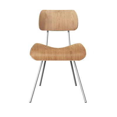 Silvis Classroom Dining Chair Color: Natural/Chrome