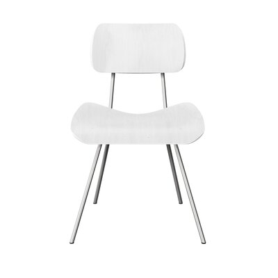 Silvis Classroom Dining Chair Color: White/Chrome