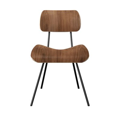 Silvis Classroom Dining Chair Color: Walnut/Black