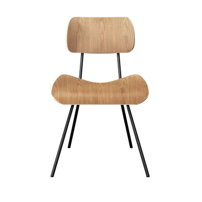 Silvis Classroom Dining Chair Color: Natural/Black