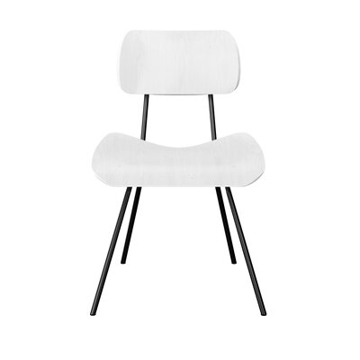 Silvis Classroom Dining Chair Color: White/Black