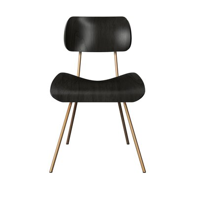 Silvis Classroom Dining Chair Color: Black/Brass