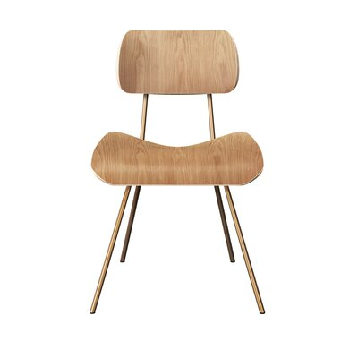 Silvis Classroom Dining Chair Color: Natural/Brass