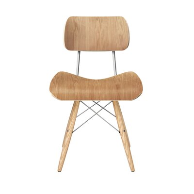 Simard Dowel Side Chair Color: Natural/Chrome